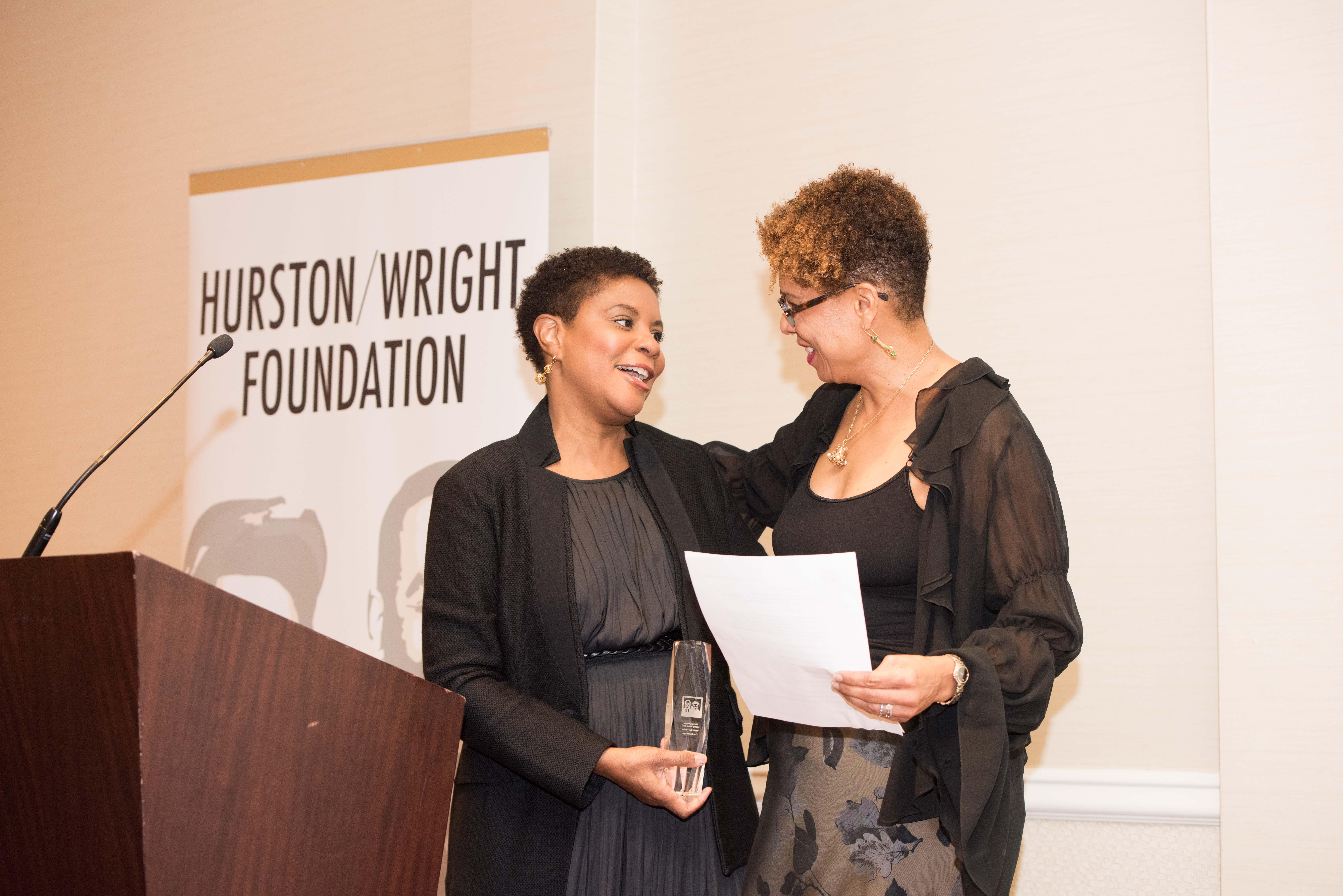 Alondra Nelson, nonfiction finalist, and Sheryll Cashin, presenter (credit- Kea Taylor, Imagine Photography)