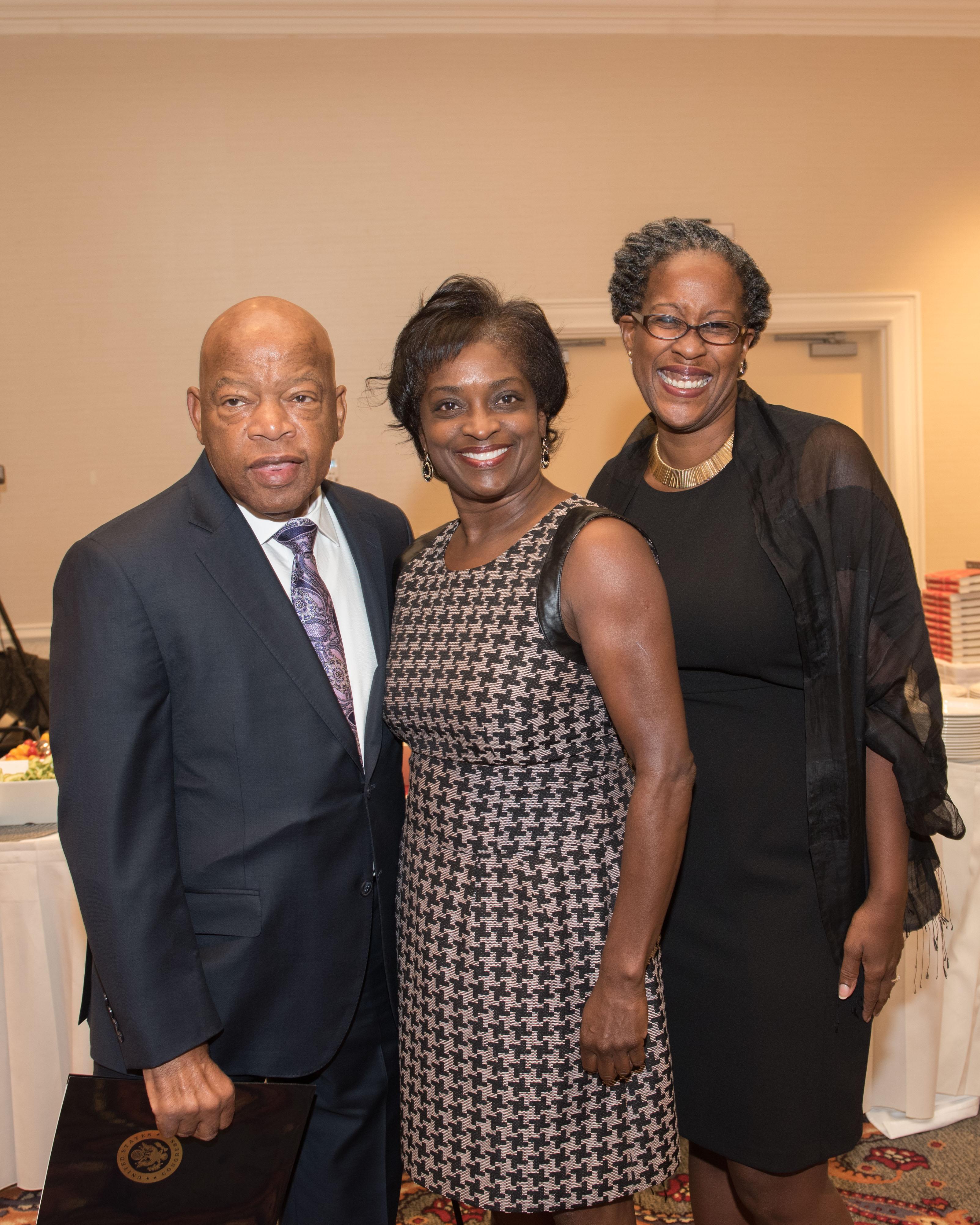 Congressman John Lewis, Mignon Clyburne and Audrey Hipkins