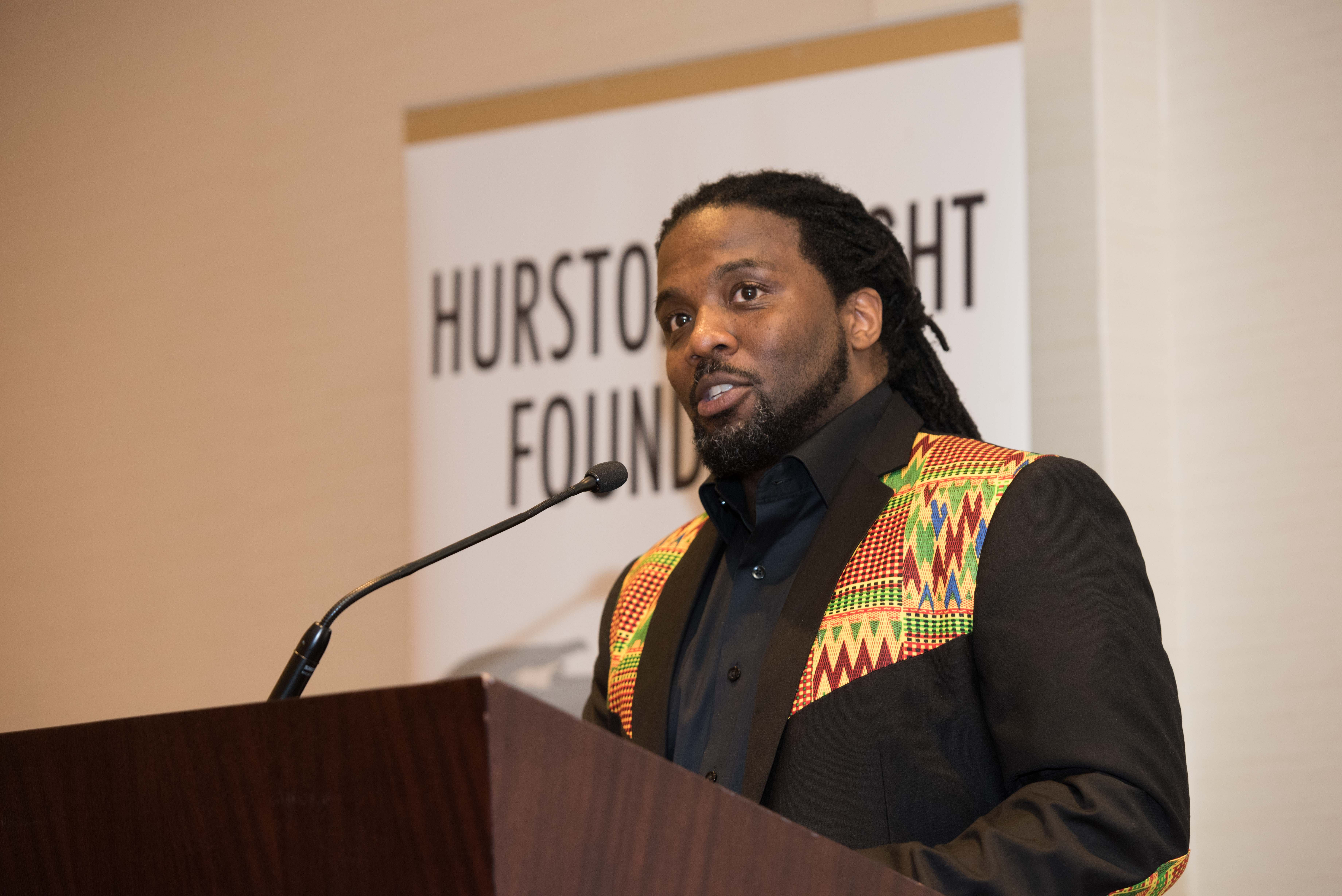 Derrick Weston Brown delivers poetic tribute to Richard Wright (Kea Taylor Imagine Photography)