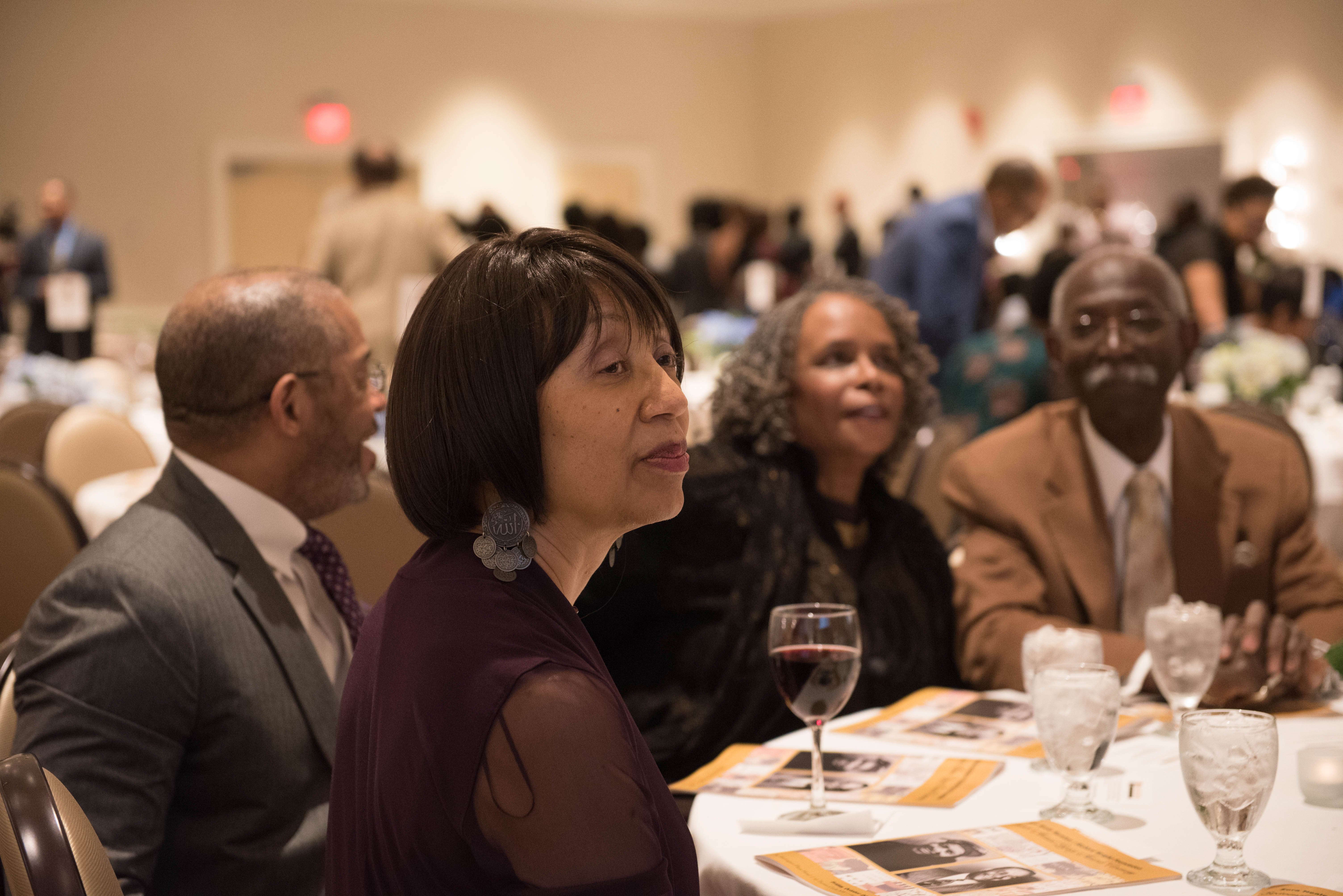 Patricia Bell-Scott, foreground, with Charles Underwood, Karla Holloway and Russell Holloway
